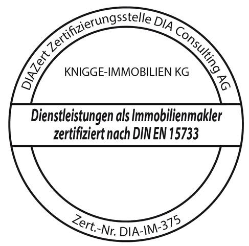Diensleistungen als Immobilienmakler zertifiziert